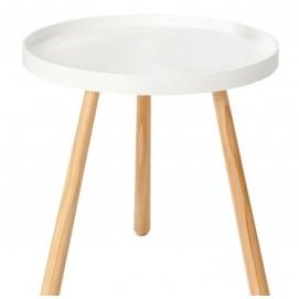 Стол кофейный Igloo Wood 2 белый MDF 40cm (Z37159) Invicta