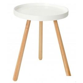 Стол кофейный Igloo Wood 2 белый MDF 45cm (Z37158) Invicta