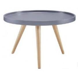 Стол кофейный Tray T1 серый +дуб Kordo