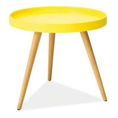 Стол кофейный Tray T1 желтый +дуб Kordo