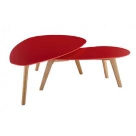 Набор столиков 2 шт Fly F2 белый Kordo