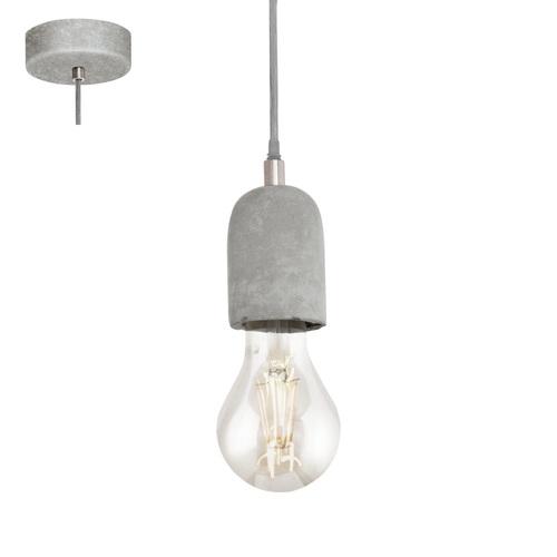 Лампа подвесная 95522 SILVARES серая Eglo бетон