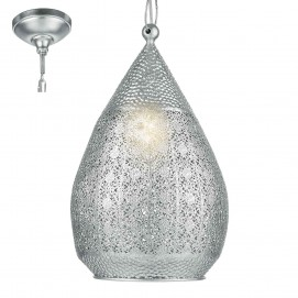 Лампа подвесная 49713 MELILLA серебро Eglo