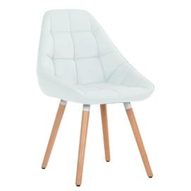 Кресло Vogue белый кожзам Primel