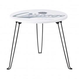 Стол журнальный Mika D 48 cm белый 129700 Maisons 2017
