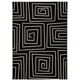 Ковер Scribe 160x230cm черно-белый (DK01130DI) Kokoon Design