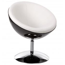 Кресло SPHERE черное+белое AC00410WH Kokoon Design 2017