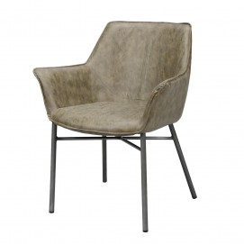 Кресло 4103 / 50W серо-коричневое Zijlstra 2017