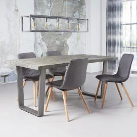 Стол обеденный 2201 / 16AL серый Zijlstra 2017