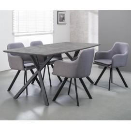 Стол обеденный 190x90cm 5686 / 62 бетон серый Zijlstra 2017