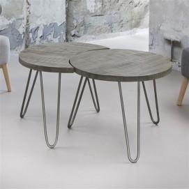 Набор столиков 2 шт 2312 / 16AL серый Zijlstra 2017