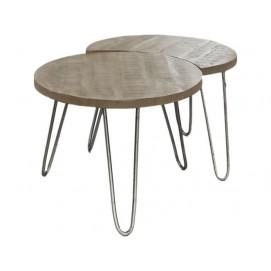 Набор столиков 2 шт 2312 / 16AN натуральный Zijlstra 2017