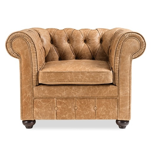Кресло Куин-1 светло-коричневое D'LineStyle