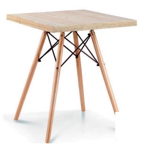 Стол обеденный Тауэр Вуд 80*80 см белый ноги дерево Mebelmodern