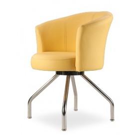 Стул Форум-элегант (нерж. сталь) желтый D'LineStyle