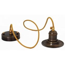 Лампа конус 12см, зеленая патина 954 PikArt