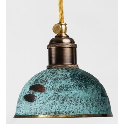 Лампа подвесная 3292 зеленая патина PikArt