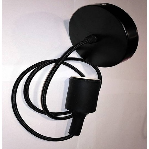 Лампа шнур AMP Silicone 001-1 черная Thexata