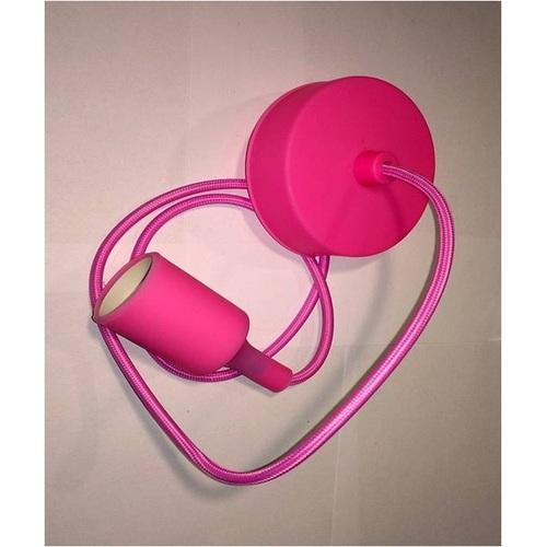 Лампа шнур AMP Silicone 005-1 розовая Thexata