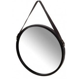 Зеркало на ремне 40,5x3cm черное 143014 Dyyk