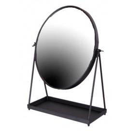 Зеркало настольное 39x29x12cm черное 143021 Dyyka