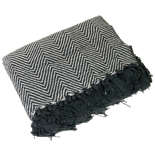 Плед 130x170cm черно-белый 1290321 Dyyk