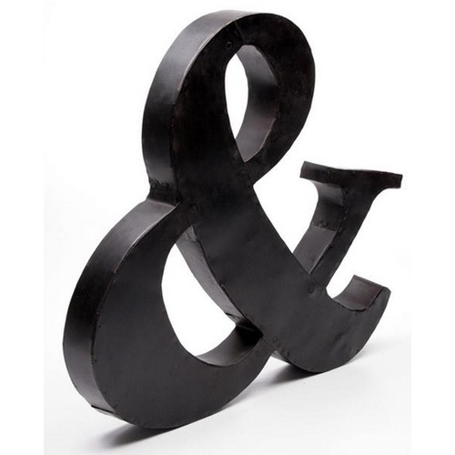 Буква 57x50x4,5cm черная 513035 Dyyk