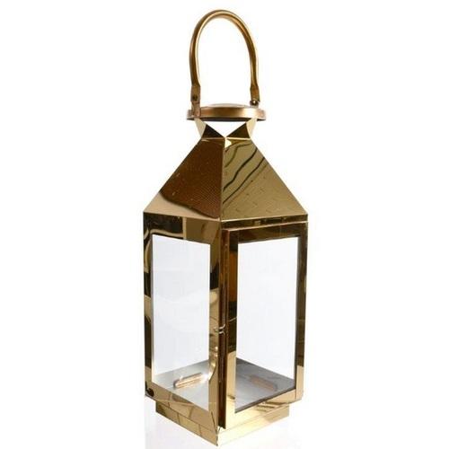 Фонарь 39,5x15x14,5 см золото 482008 Dyyk