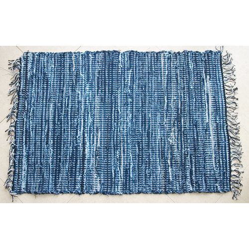 Ковер придверной 60x90cm голубой 317008 Dyyk