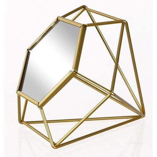 Зеркало настольное 21,1x18,2x18cm 531036 золото Dyyk