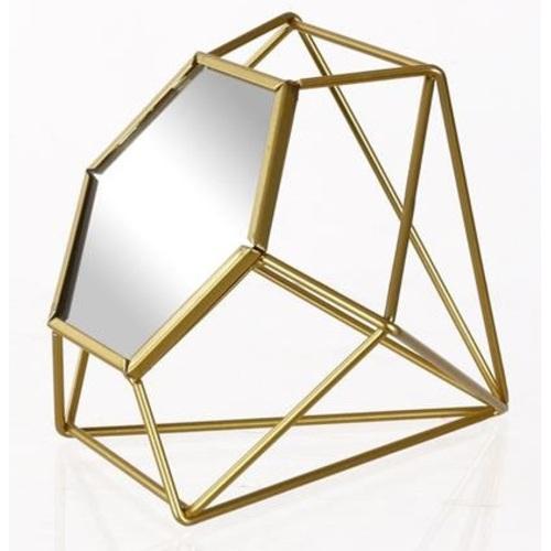 Зеркало настольное 17,5x15x15cm золото 531034  Dyyk
