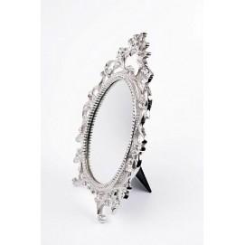 Зеркало настольное 22x5x35cm серебро 506478 Dyyk