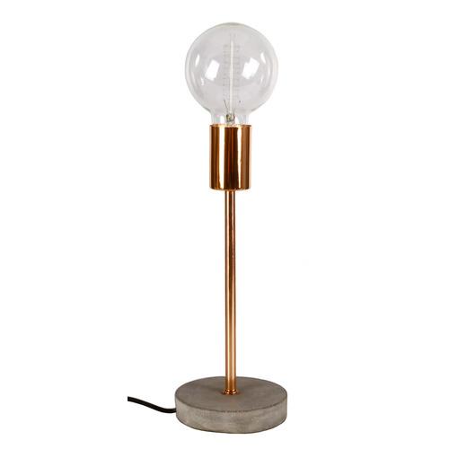 Лампа настольная 12x12xH30,5 cm серый бетон 1600025 Dyyk