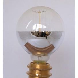 Лампочка зеркальная накаливания с хромовым покрытием №2 G95 X-ed тёплый свет