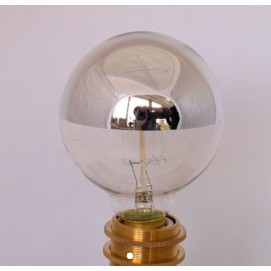 Лампочка зеркальная накаливания с хромовым покрытием G95 X-ed тёплый свет