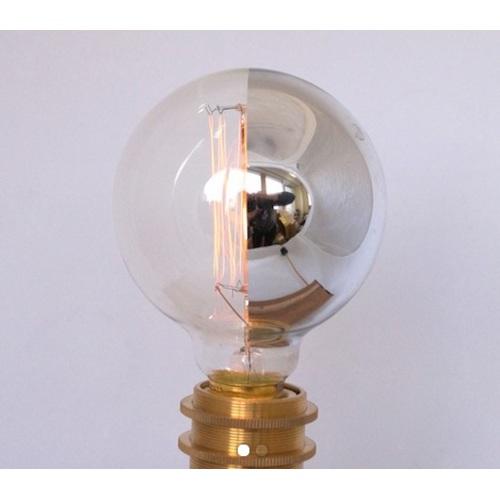 Лампочка зеркальная накаливания с хромовым покрытием №3 G95 X-ed тёплый свет