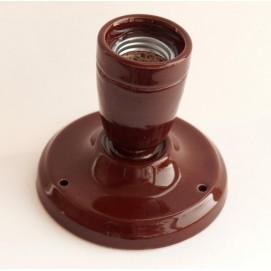 Спот керамический коричневый X-ed