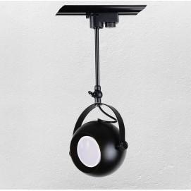 Прожектор на треке 7521209-1B BK GU10 черный Thexata