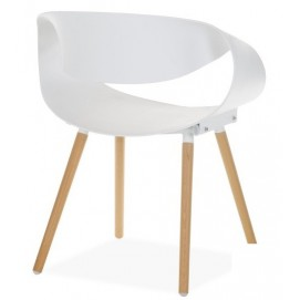 Кресло Берта белое ноги дерево Mebelmodern