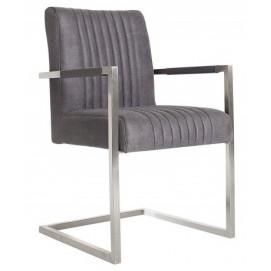 Кресло офисное Big Aston vintage серое 36709 Invicta