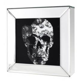 Картина Mirror Skull Diamond 20x20cm/ 36773 черная Invicta