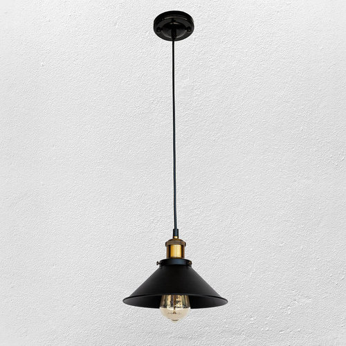 Лампа подвесная 707P103F11-1 BK-220 мм черная Thexata