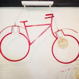 Люстра Велосипед 756PR7021-2 красная Thexata