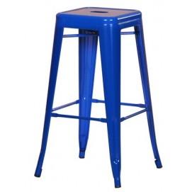 Табурет барный АС-012 синий Kordo есть 2шт!!!