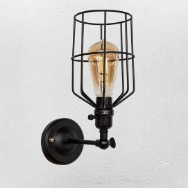 Светильник настенный 756WPR1985-1 BK черный Thexata