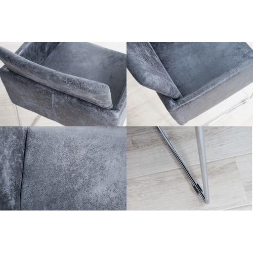 Кресло Livorno Mikrofaser темно-серое 37852 Invicta