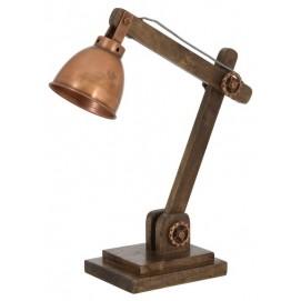 Лампа настольная  LAMP 50X15X45 CM ELMER WOOD медь Home Design