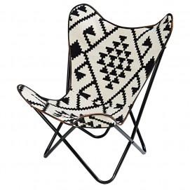 Кресло бабочка Palmyre черно-белое 166321 Maisons 2017