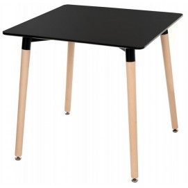 Стол обеденный 80 см DT-9017 квадрат черный Exouse