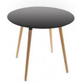 Стол обеденный 80 см DT-9017 круг черный Exouse
